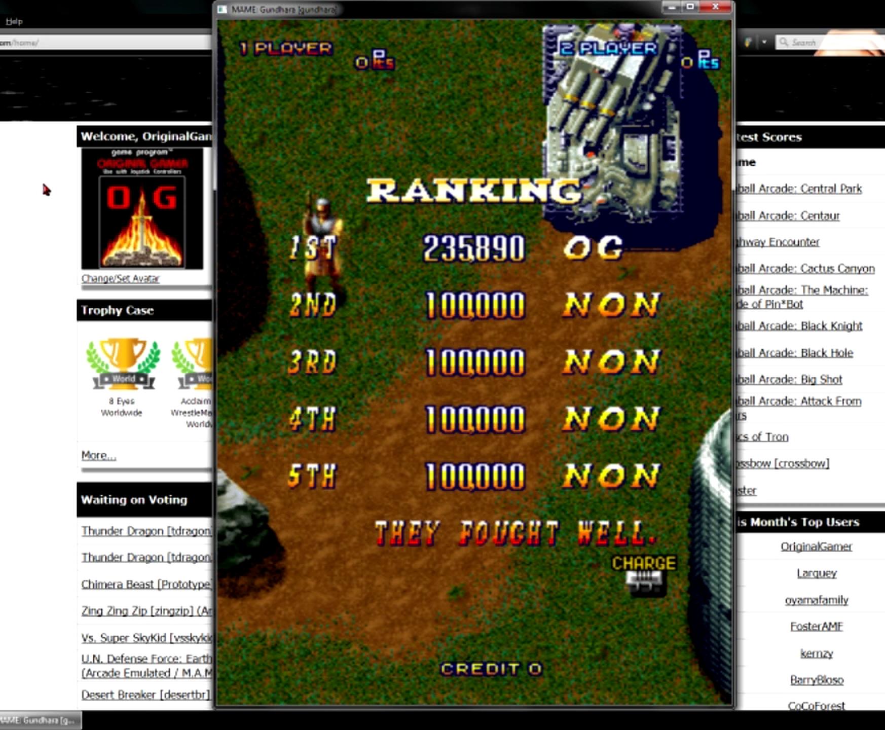 OriginalGamer: Gundhara: Juudan Arashi [gundhara] (Arcade Emulated / M.A.M.E.) 235,890 points on 2015-05-30 23:42:00