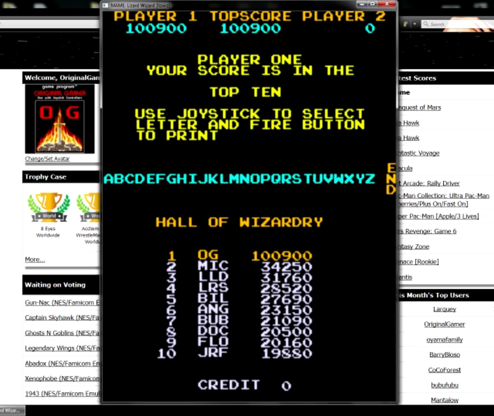OriginalGamer: Lizard Wizard [lizwiz] (Arcade Emulated / M.A.M.E.) 100,900 points on 2015-05-30 23:43:57
