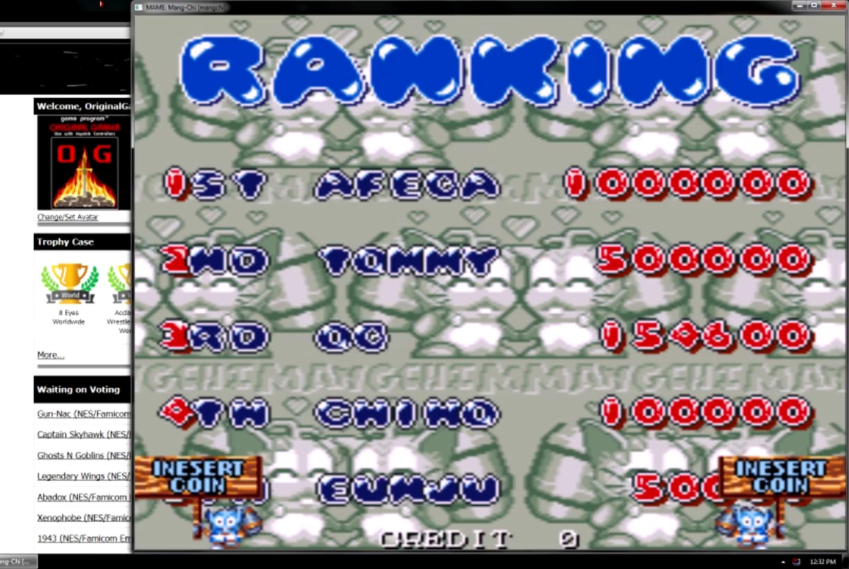 OriginalGamer: Mang-Chi [mangchi] (Arcade Emulated / M.A.M.E.) 154,600 points on 2015-05-30 23:45:53