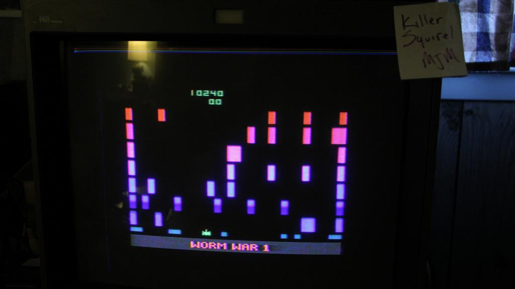 killersquirel: Worm War I (Atari 2600 Expert/A) 10,240 points on 2013-10-29 07:48:15