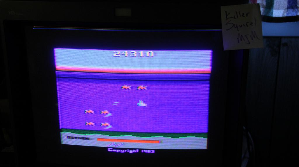killersquirel: Seaquest (Atari 2600 Expert/A) 24,310 points on 2013-10-29 07:48:43