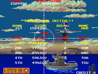 BarryBloso: Battle Shark [bshark] (Arcade Emulated / M.A.M.E.) 1,524,950 points on 2015-06-02 07:30:23