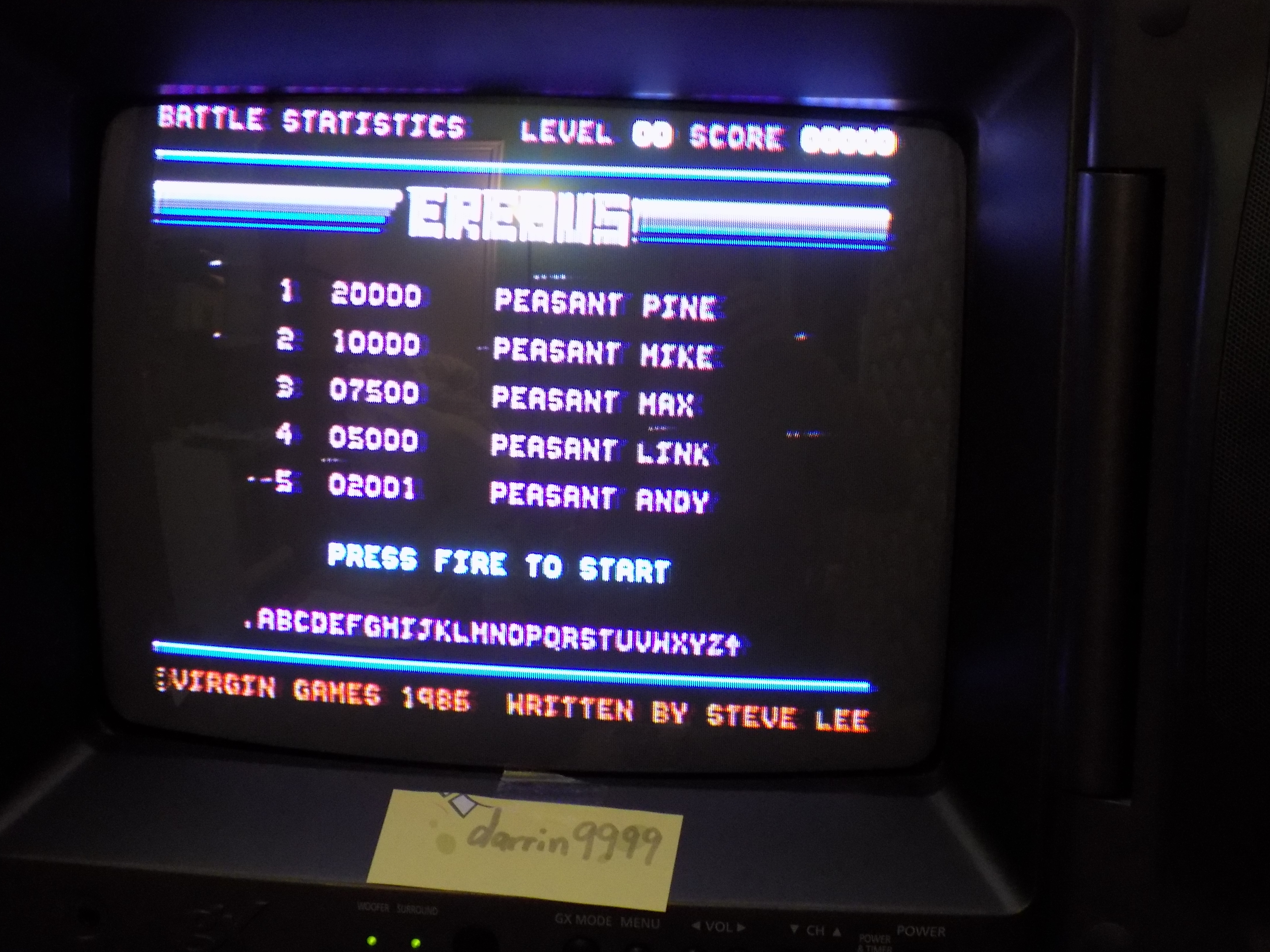 Erebus 6,720 points
