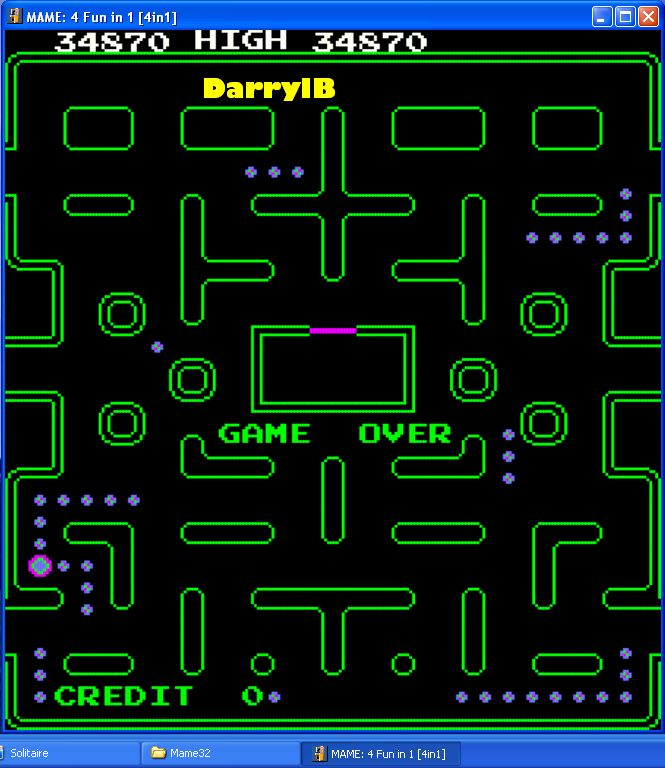 DarrylB: 4 Fun in 1: The Ghost Muncher Pt3 [4in1] (Arcade Emulated / M.A.M.E.) 34,870 points on 2015-06-03 20:29:04