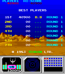 BarryBloso: Senjyo [senjyo] (Arcade Emulated / M.A.M.E.) 40,900 points on 2015-06-06 07:46:13