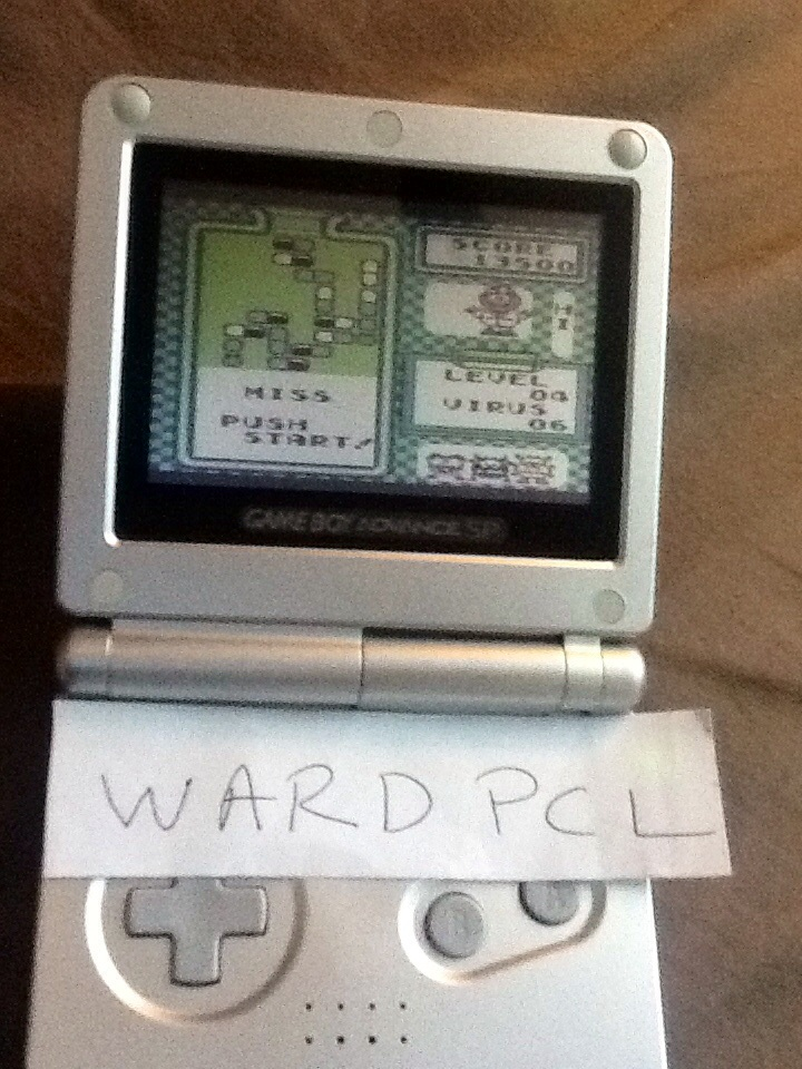 Wardpcl: Dr. Mario [High] (Game Boy) 13,500 points on 2015-06-06 08:07:10