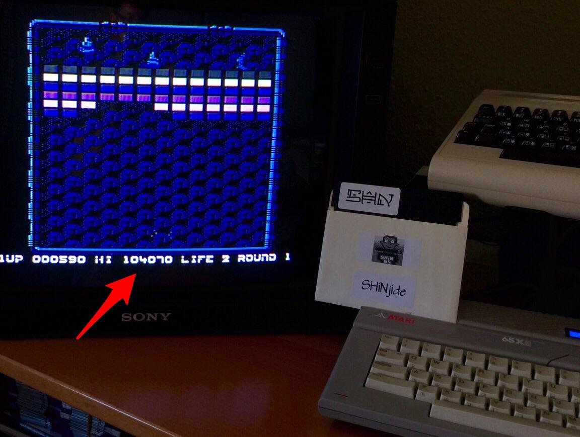 SHiNjide: Arkanoid (Atari 400/800/XL/XE) 104,070 points on 2015-06-06 10:37:09