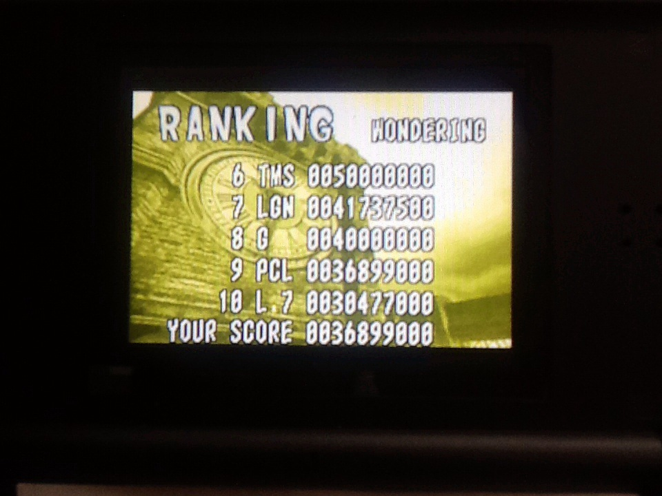 Wardpcl: Pinball Of The Dead: Normal: Wondering [Fast] (GBA) 36,899,000 points on 2015-06-06 16:23:31