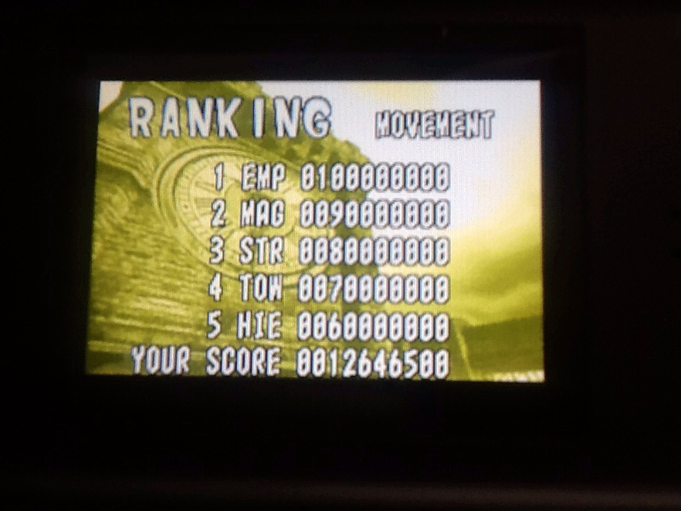 Wardpcl: Pinball Of The Dead: Normal: Movement [Fast] (GBA) 12,646,500 points on 2015-06-06 17:08:54