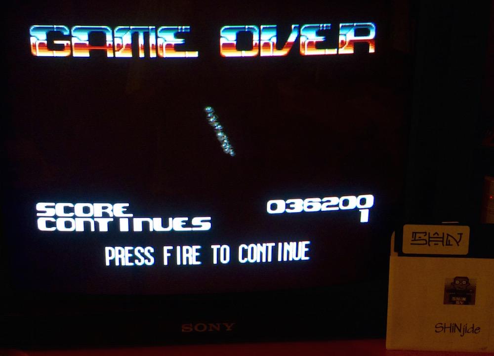 SHiNjide: Blastar [Normal] (Amiga) 36,200 points on 2015-06-07 04:05:59