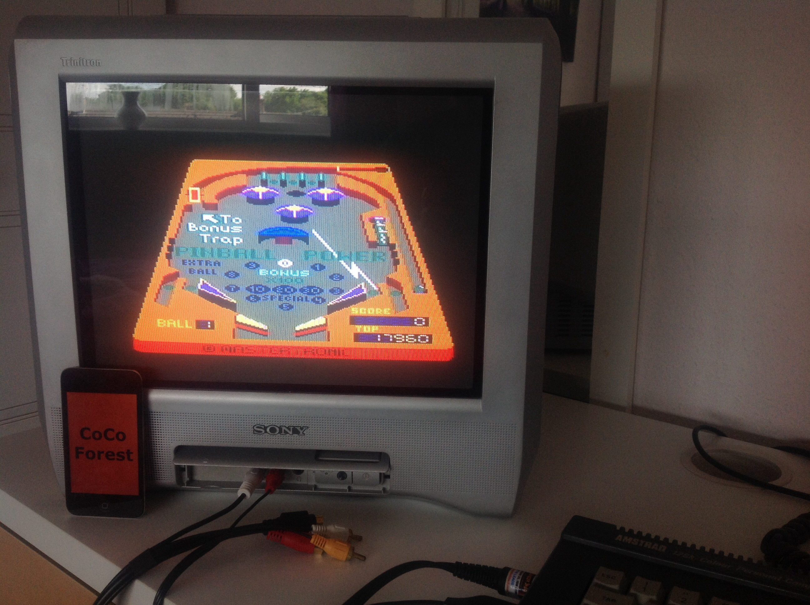 CoCoForest: 3D Pinball (Amstrad CPC) 17,960 points on 2015-06-07 04:30:22