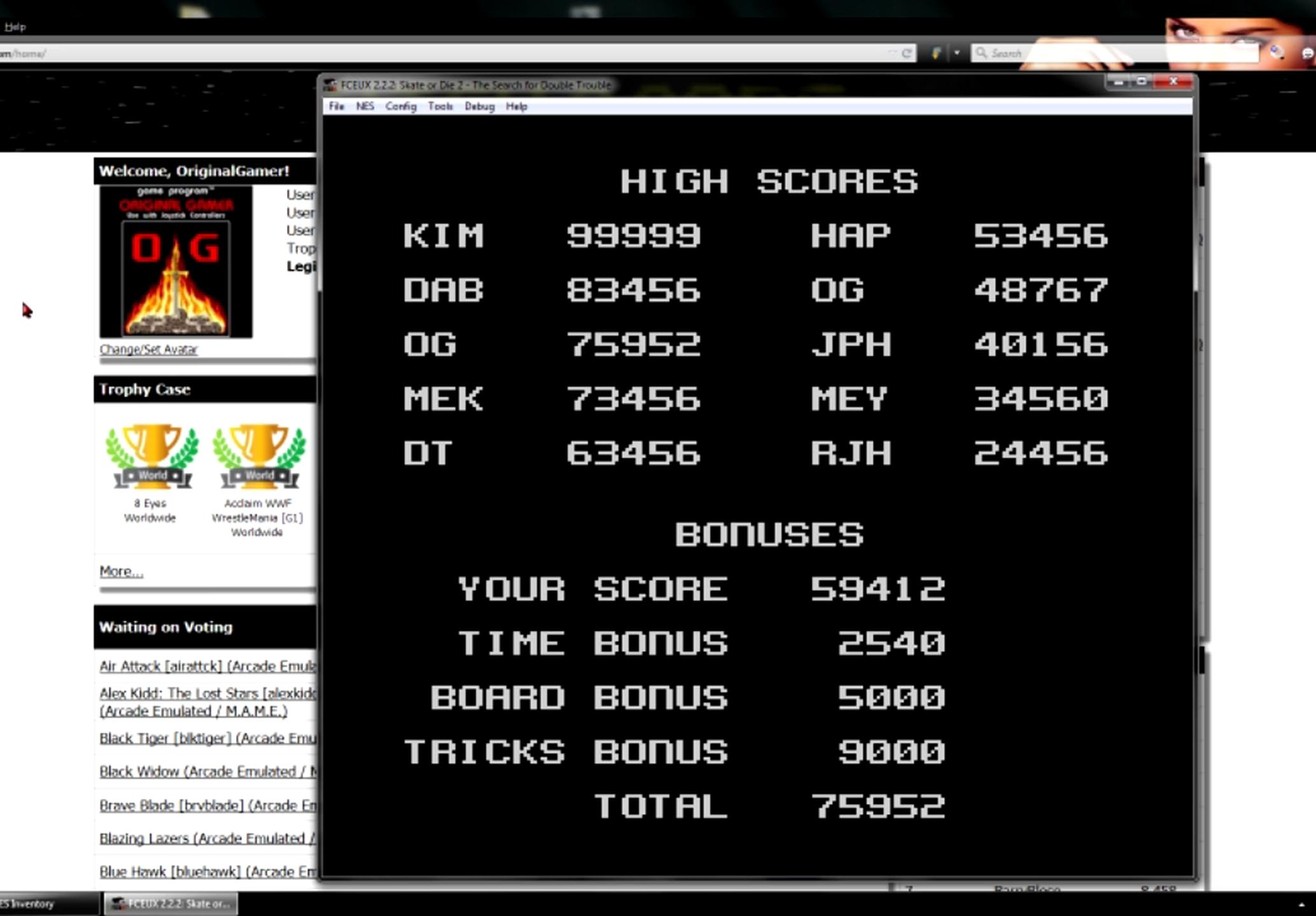 OriginalGamer: Skate or Die 2: Ramp (NES/Famicom Emulated) 75,952 points on 2015-06-08 23:33:59