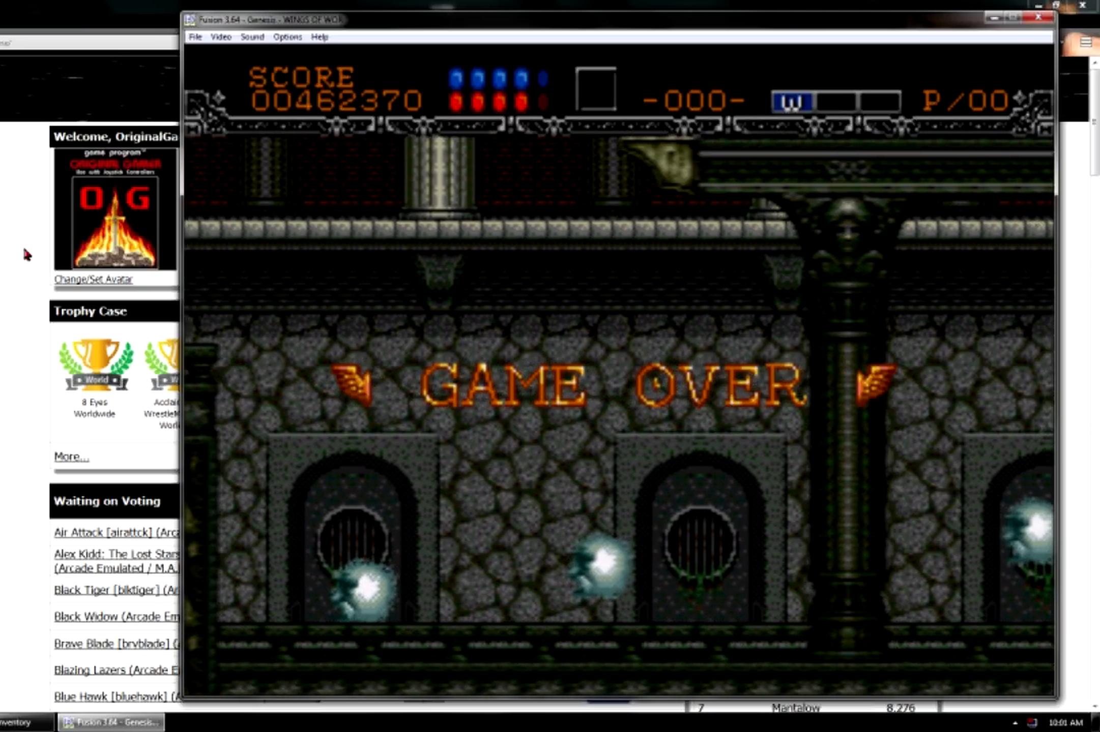 OriginalGamer: Wings of Wor / Gynoug: Easy (Sega Genesis / MegaDrive Emulated) 462,370 points on 2015-06-08 23:53:34