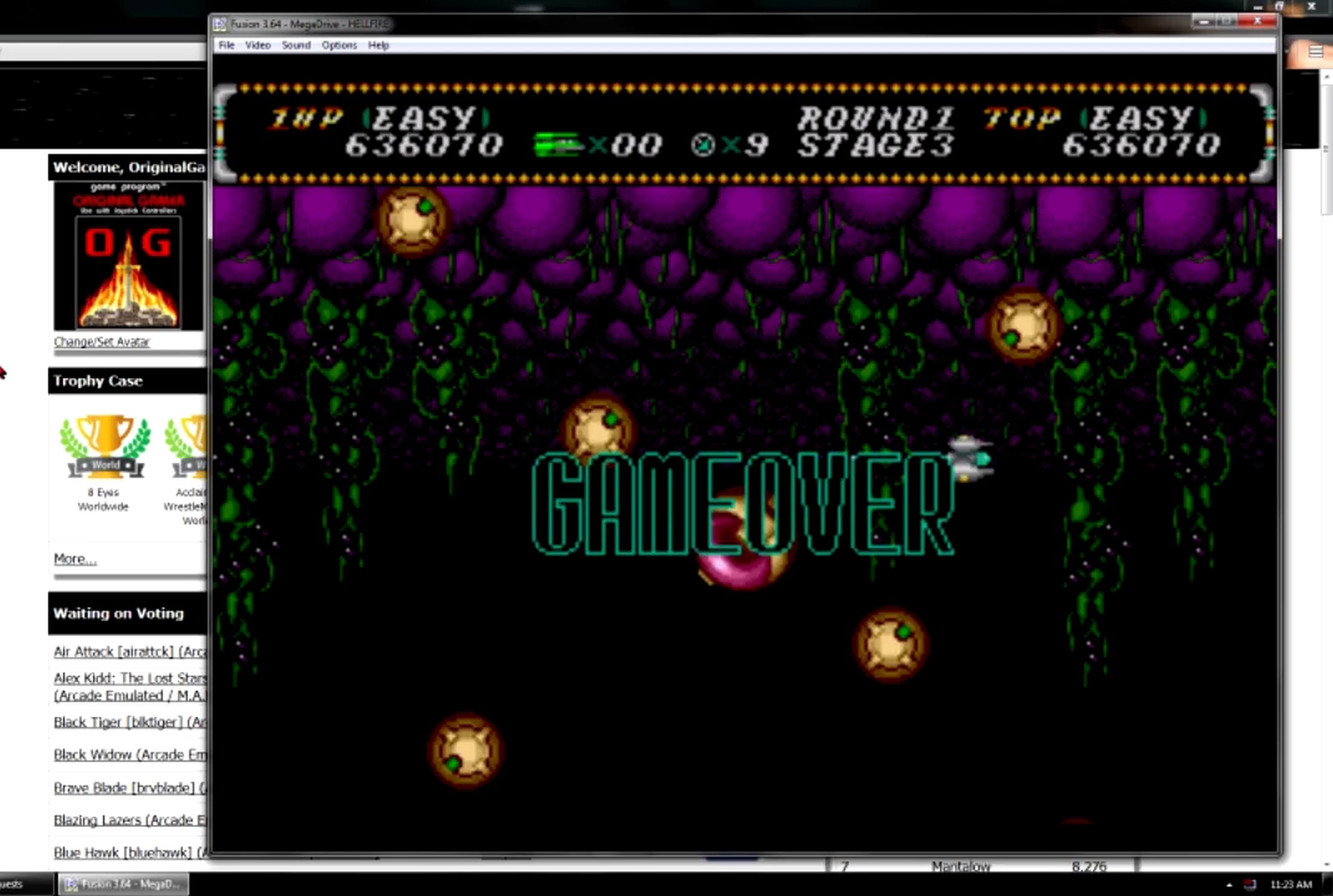 OriginalGamer: Hellfire: Easy (Sega Genesis / MegaDrive Emulated) 636,070 points on 2015-06-08 23:56:41