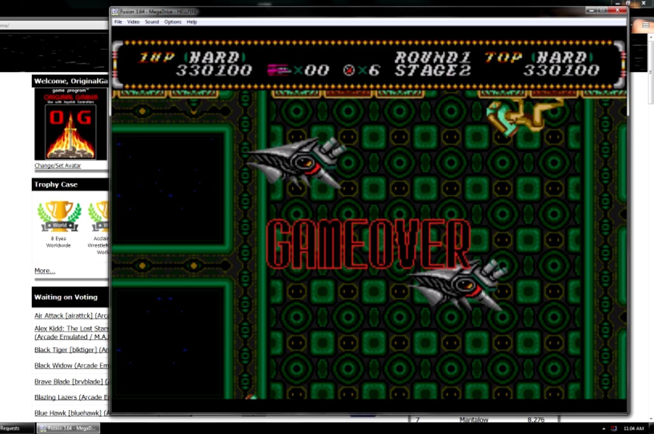 OriginalGamer: Hellfire: Hard (Sega Genesis / MegaDrive Emulated) 330,100 points on 2015-06-08 23:58:01