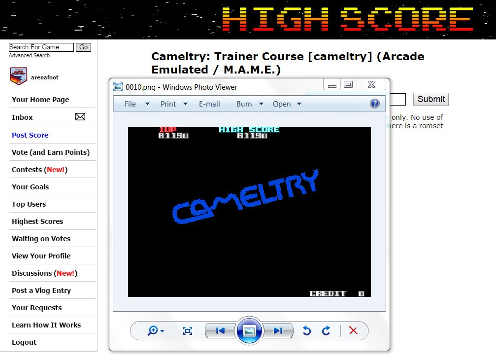 arenafoot: Cameltry: Trainer Course [cameltry] (Arcade Emulated / M.A.M.E.) 81,190 points on 2015-06-09 16:44:42