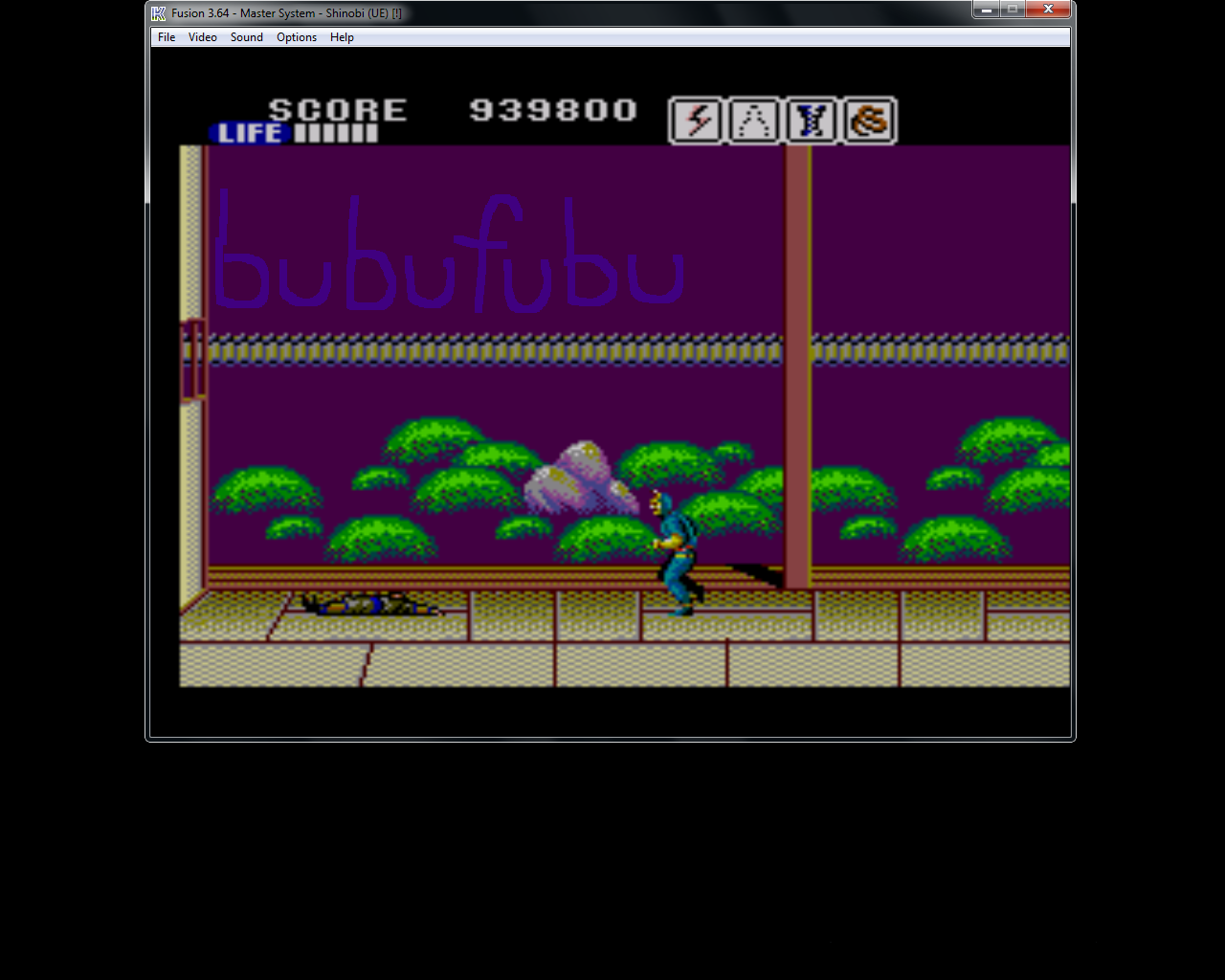 bubufubu: Shinobi (Sega Master System Emulated) 939,800 points on 2015-06-10 14:21:24