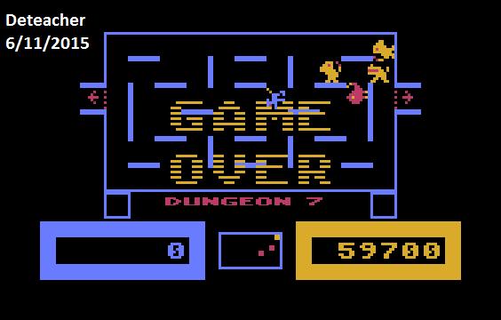 Deteacher: Wizard of Wor (Atari 400/800/XL/XE Emulated) 59,700 points on 2015-06-11 14:25:36