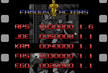 RichyS: Action Hollywood [actionhw] (Arcade Emulated / M.A.M.E.) 830,030 points on 2015-06-11 17:17:05