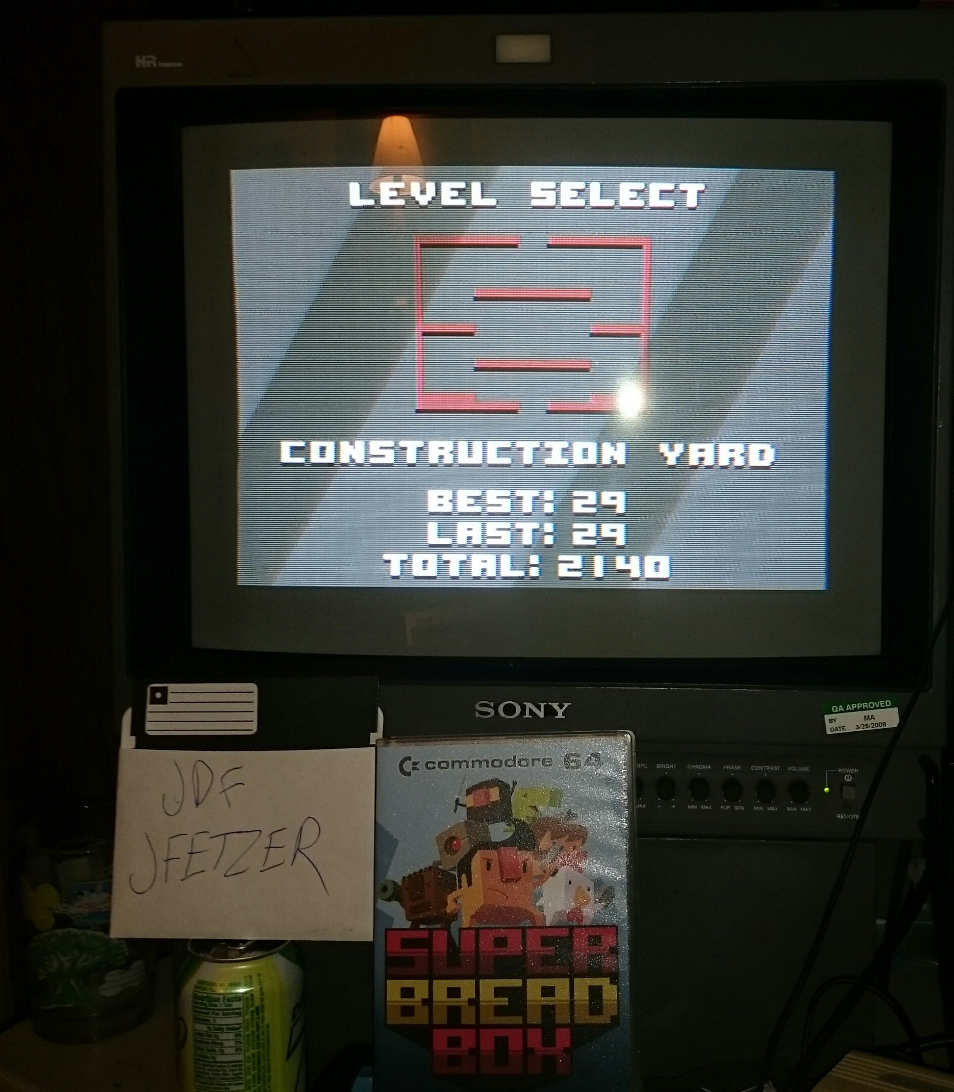 jfetzer: Super Bread Box: Construction Yard (Commodore 64) 29 points on 2015-06-11 23:17:53