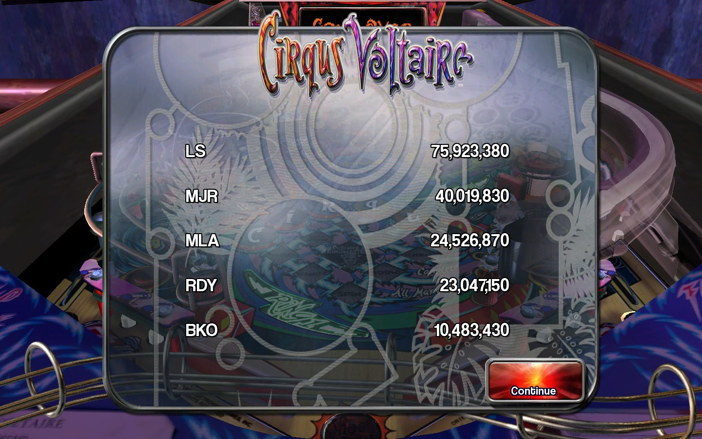 kamakazi20012: Pinball Arcade: Circus Voltaire (PC) 24,526,870 points on 2015-06-12 00:31:42