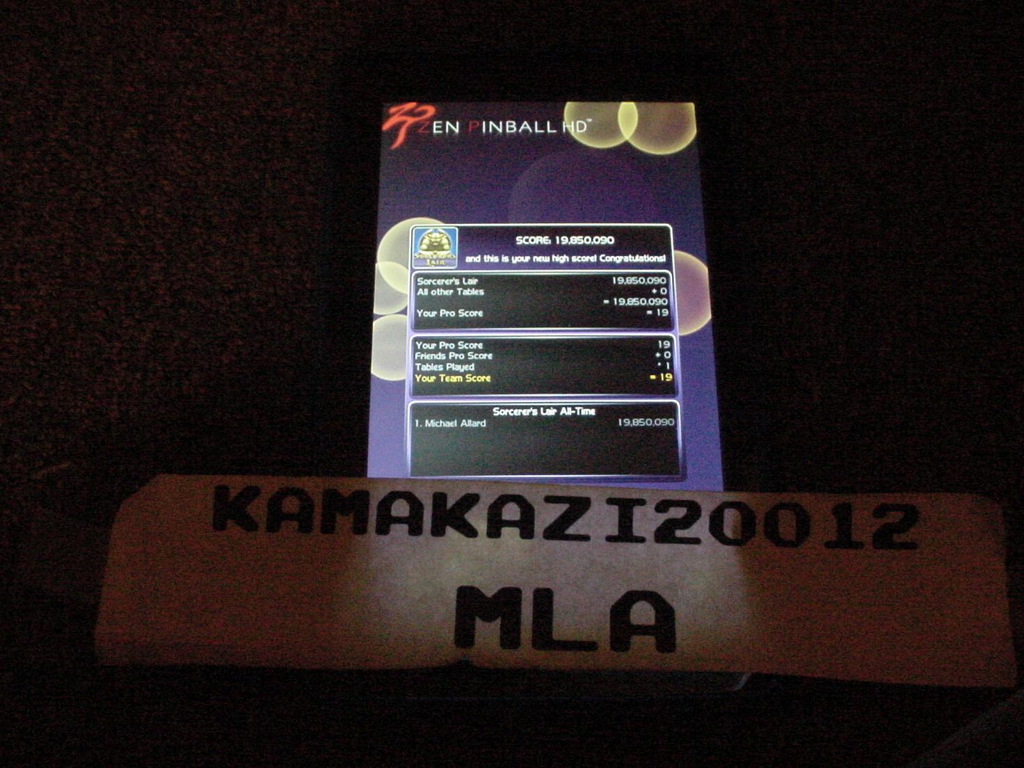 kamakazi20012: Zen Pinball 2: Sorcerer