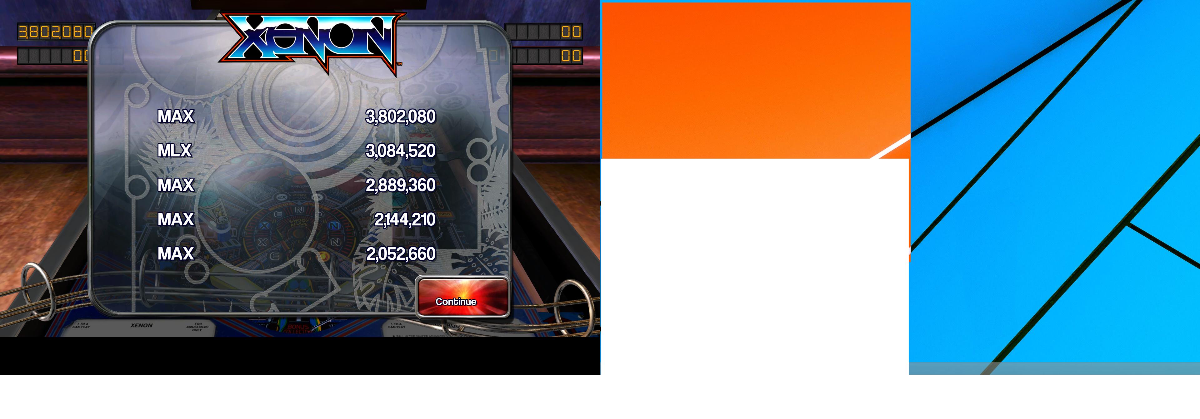 Maxwel: Pinball Arcade: Xenon (PC) 3,802,080 points on 2015-06-12 14:14:13