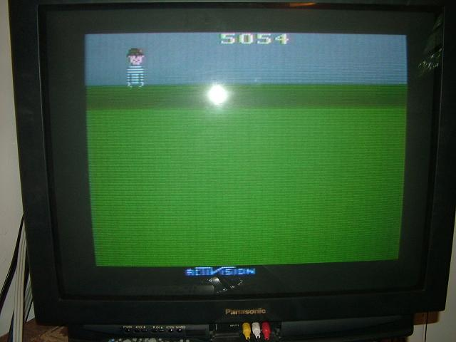 AtariPlayer: Kaboom! (Atari 2600 Novice/B) 5,054 points on 2013-10-30 23:52:31