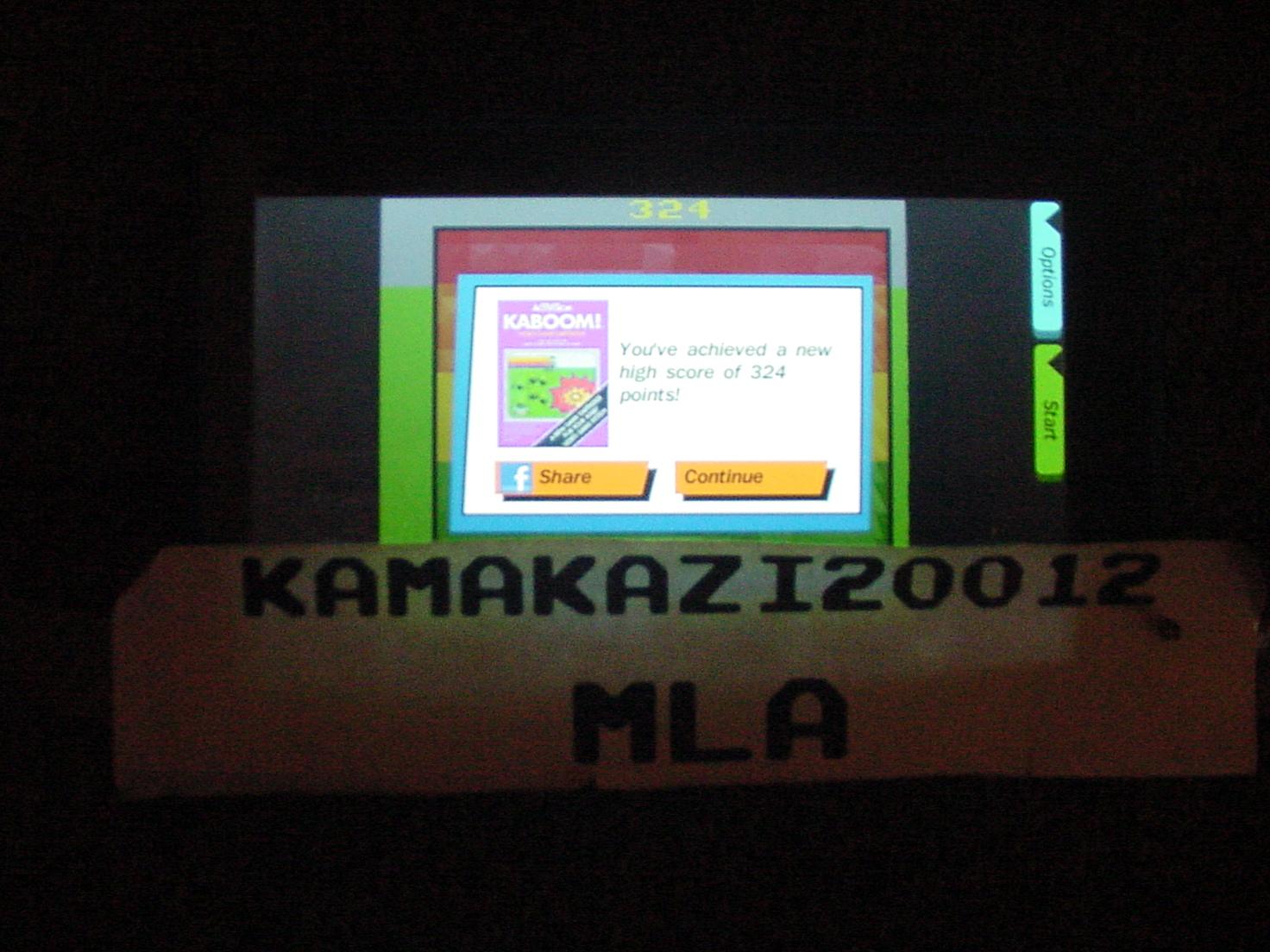 kamakazi20012: Activision Anthology: Kaboom! [Game 1B] (Android) 324 points on 2015-06-14 23:01:14