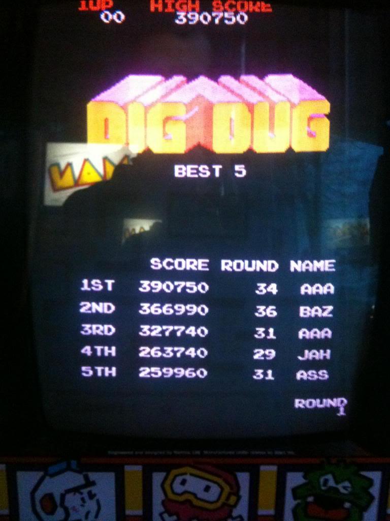Dig Dug 366,990 points