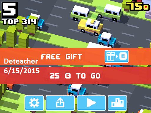Deteacher: Crossy Road (iOS) 314 points on 2015-06-15 19:41:46