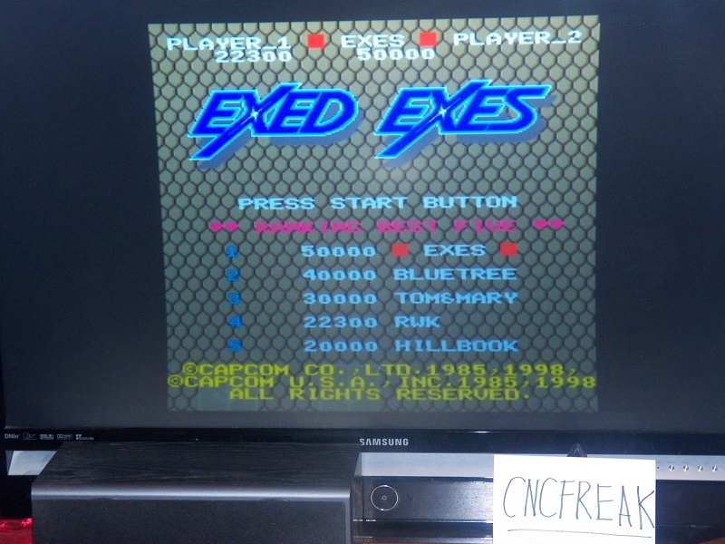 Capcom Classics Vol 1: Exed Exes 22,300 points