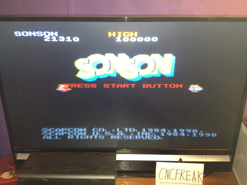 Capcom Classics Vol 1: SonSon 21,310 points