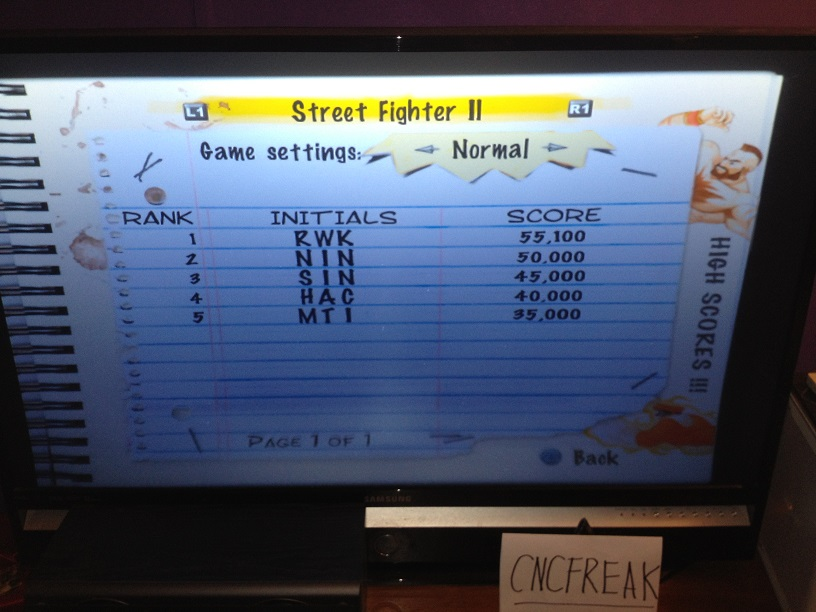 Capcom Classics Vol 1: Street Fighter II 55,100 points