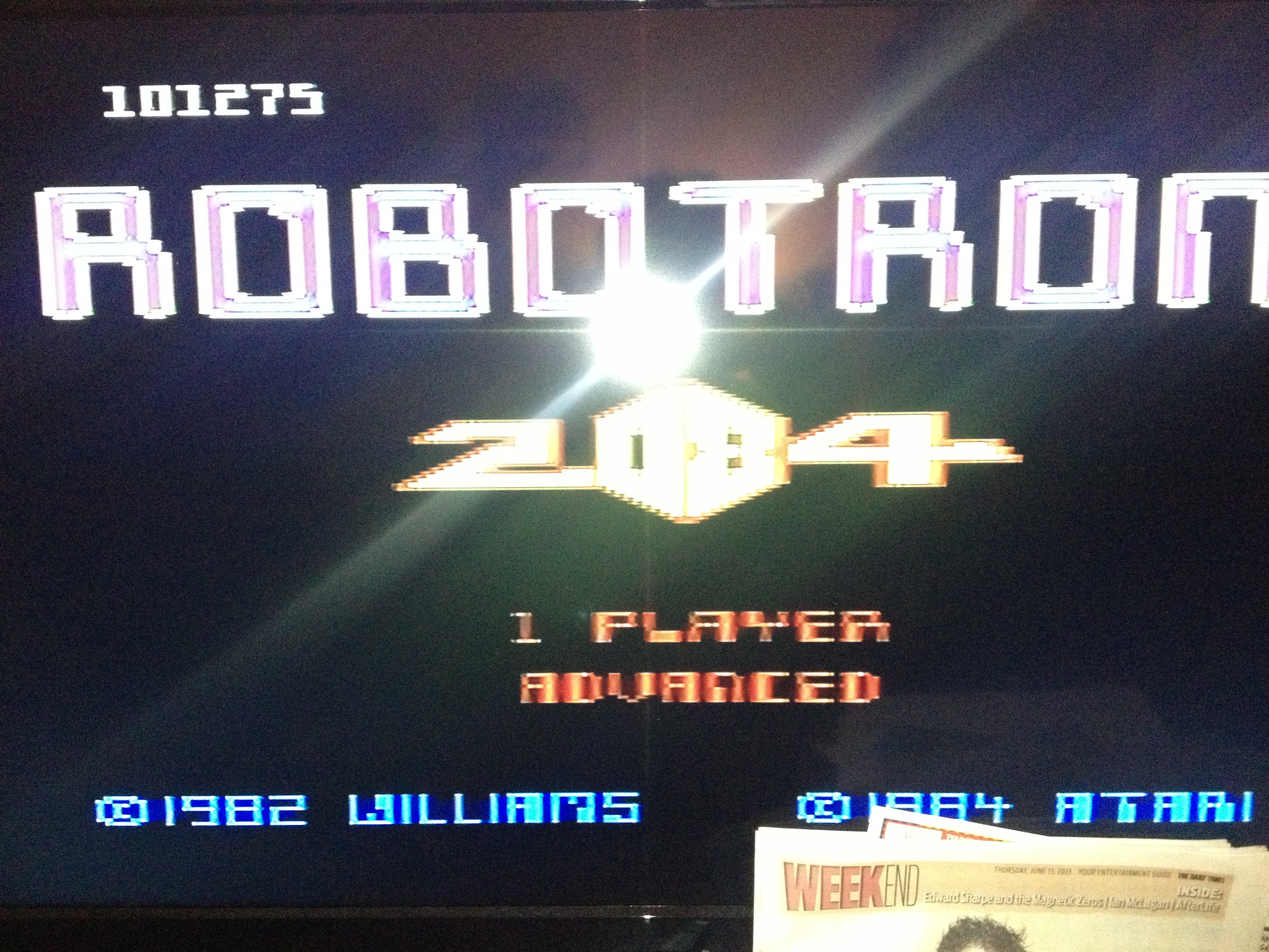 Robotron 2084: Advanced 101,275 points