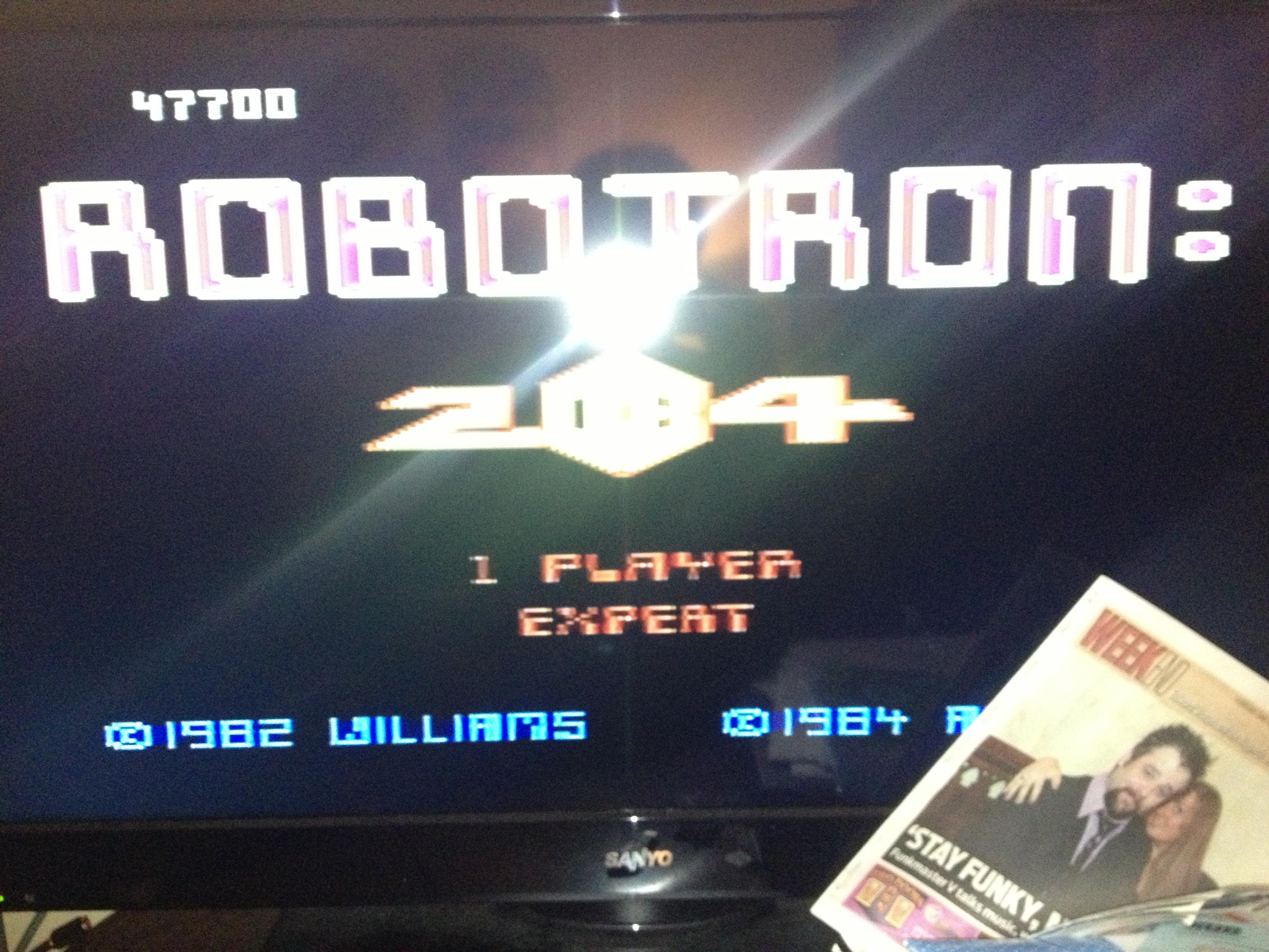 Robotron 2084: Expert 47,700 points