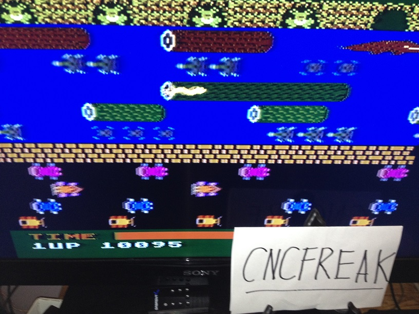 Frogger 10,095 points