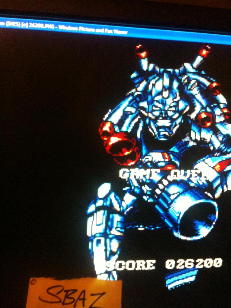 Super Turrican 26,200 points