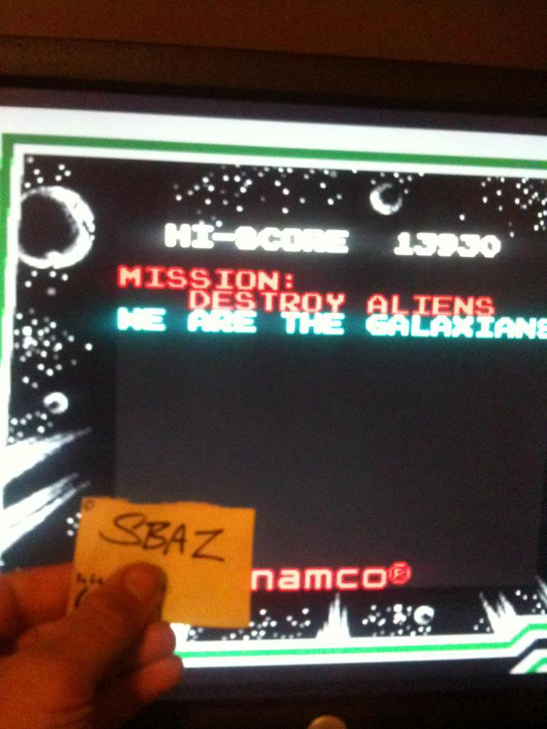 Galaxian 13,930 points