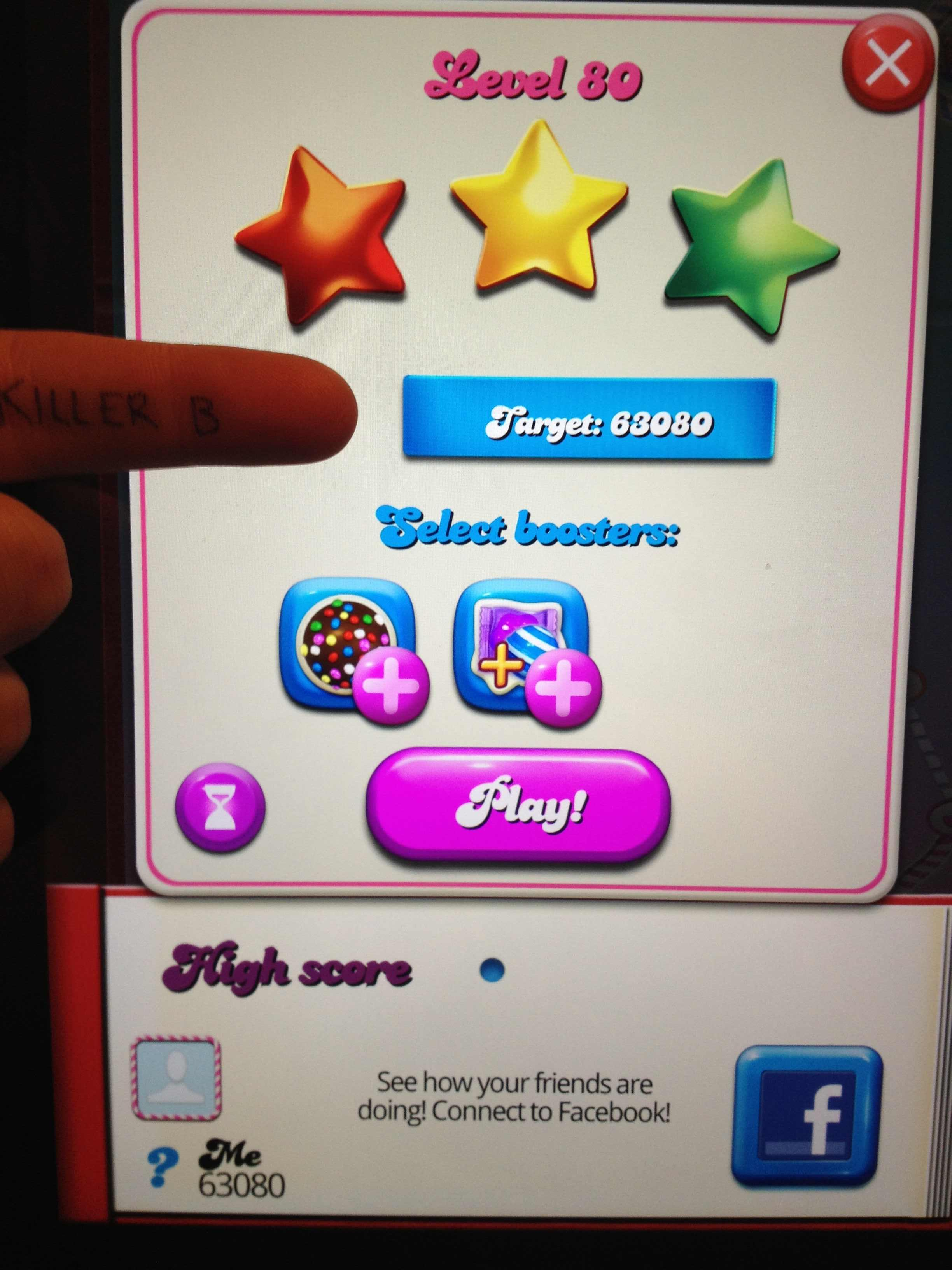 KillerB: Candy Crush Saga: Level 080 (iOS) 63,080 points on 2013-11-19 16:45:06