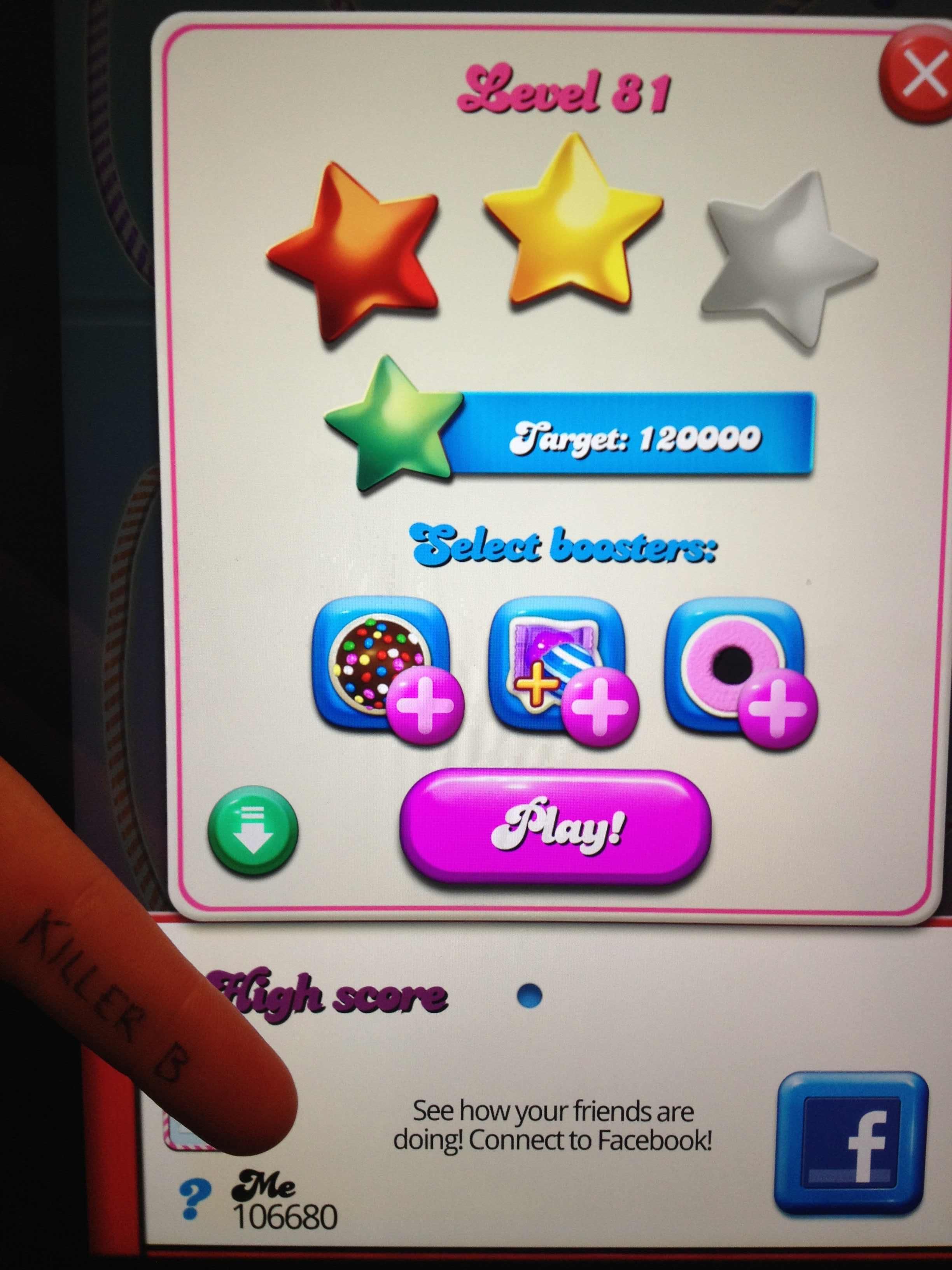 Candy Crush Saga: Level 081 106,680 points