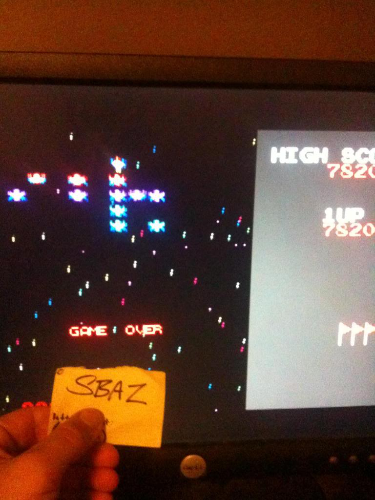 Namco Museum: Galaxian 7,820 points
