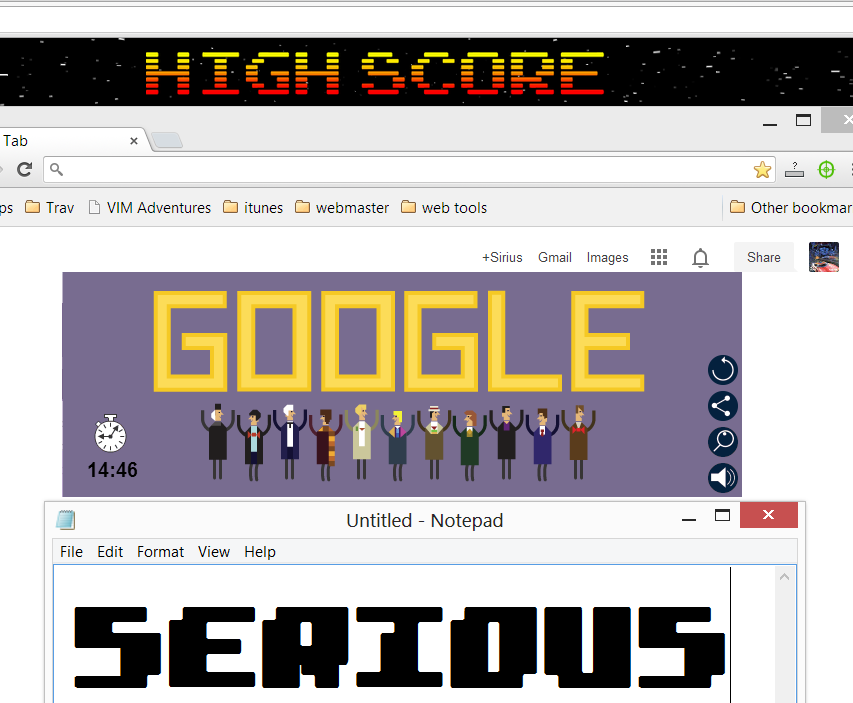 Serious: Google Doctor Who Doodle (Web) 0:14:46 points on 2013-11-23 00:57:44