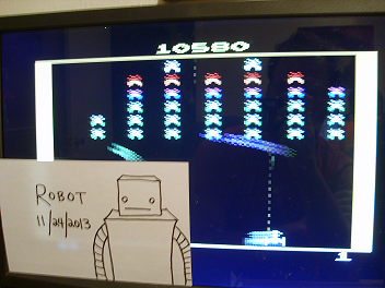 Robot: Galaxian (Atari 2600 Emulated Expert/A Mode) 10,580 points on 2013-11-24 18:57:06