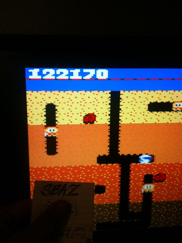 Dig Dug: Pineapple 122,170 points