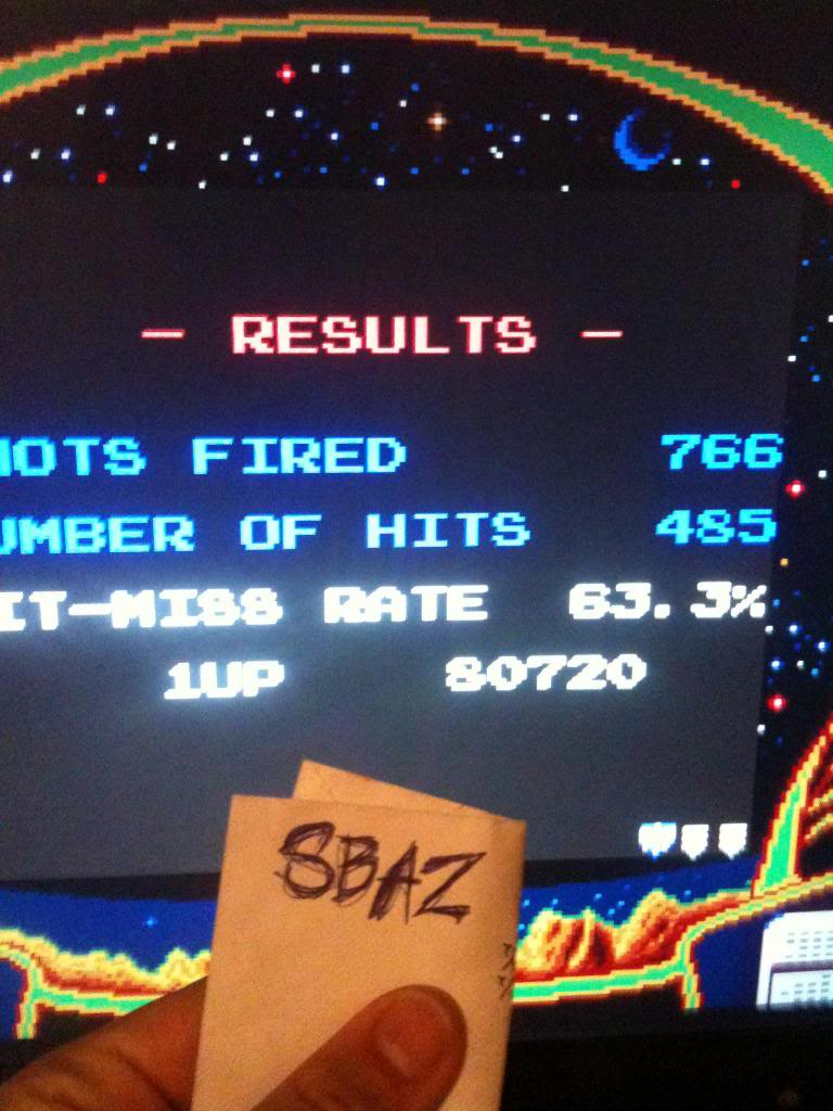 Galaga 80,720 points