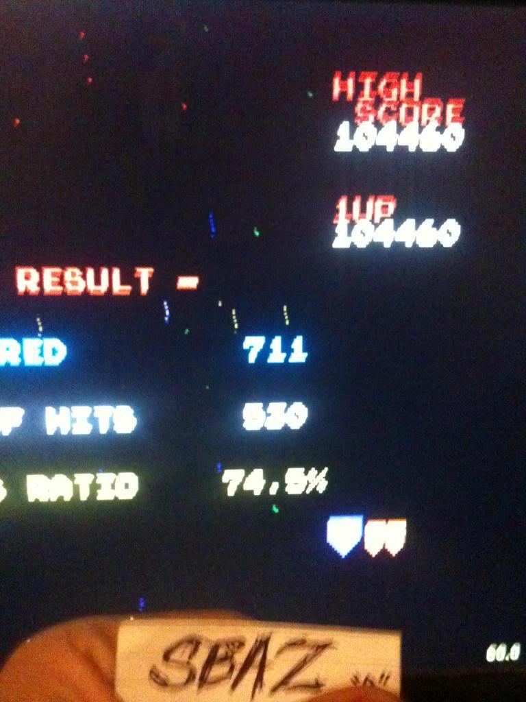 Galaga 104,460 points