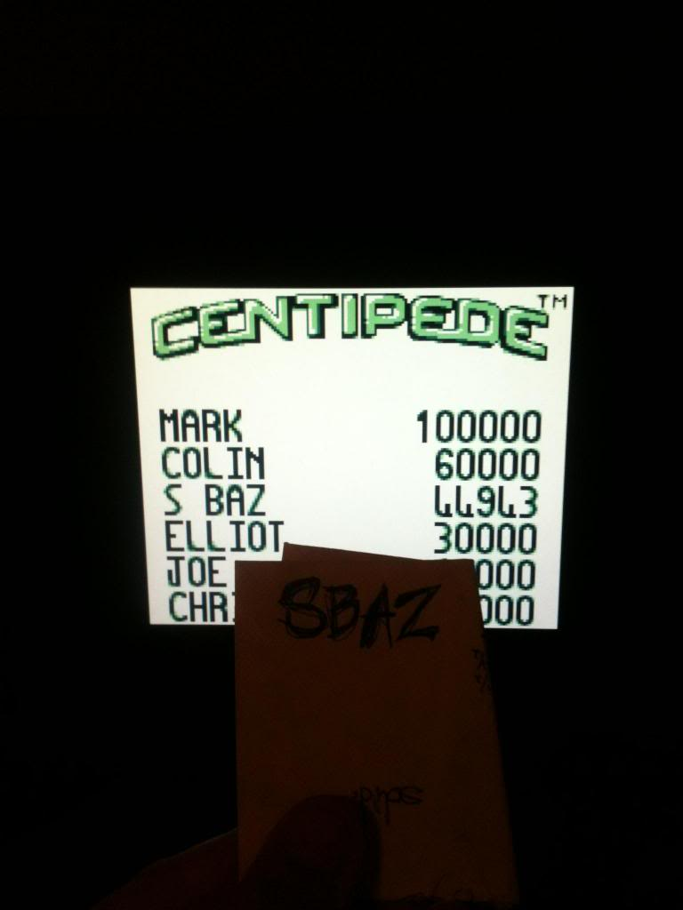 Centipede 44,643 points