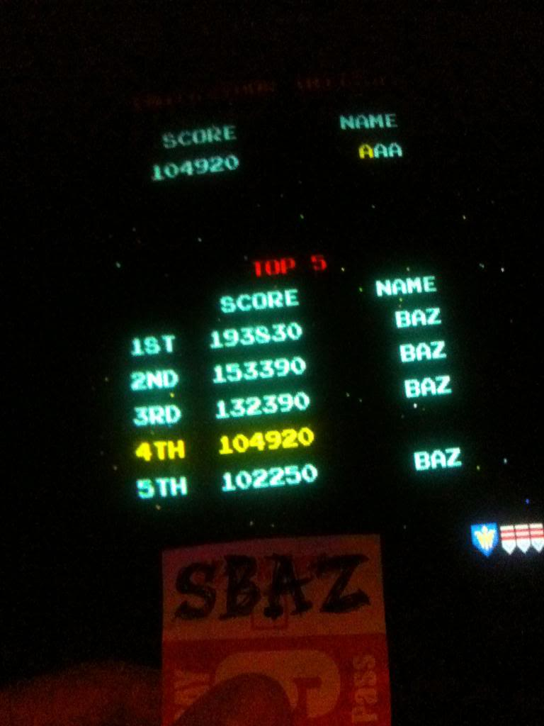 Galaga 193,830 points
