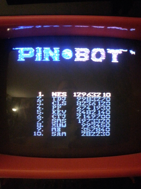 NESMike: Pin*Bot (NES/Famicom) 12,963,210 points on 2013-12-07 05:50:05